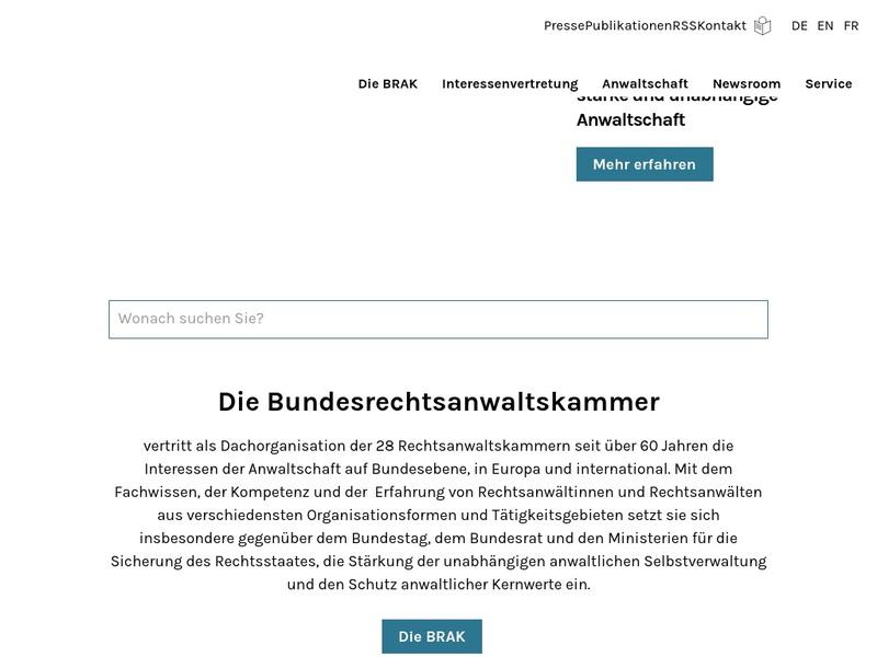 Screenshot von www.brak.de